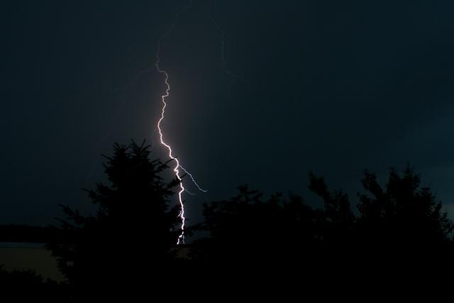 Gewitter, Blitz, einschlag