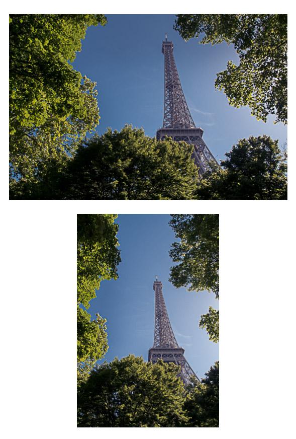 Eifenturm Paris um Hochformat und Querformat